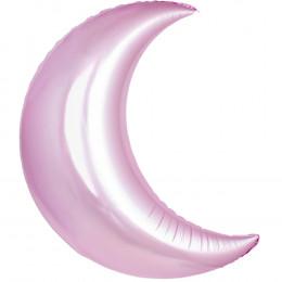 Фигурный шар розовый Месяц