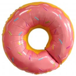 Фигурный шар Розовый пончик с посыпкой