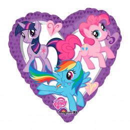 Шар-сердце Влюбленные Маленькие Пони