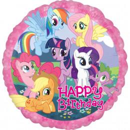 Шар-круг Happy Birthday Моя маленькая пони