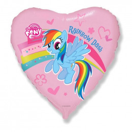 Шар-сердце Радужная Пони