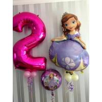 Набор воздушных шаров на День Рождения с Софией Прекрасной