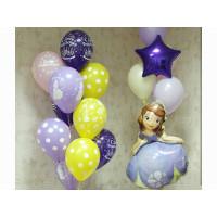 Композиция из гелевых шаров с Принцессой Софией