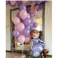 Композиция из шаров с фигурой Принцессы Софии
