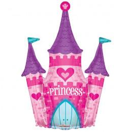 Фигурный шар Замок для принцессы, розовый