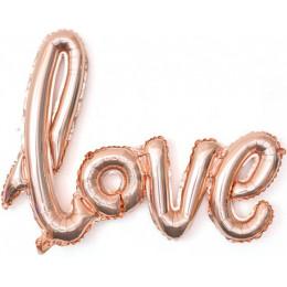Гирлянда надувная Love, розовое золото