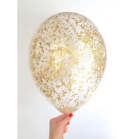 Шары конфетти с золотой крошкой