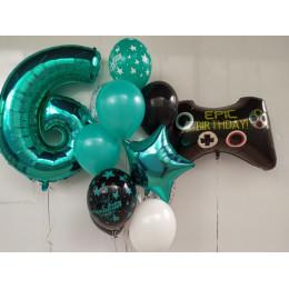 Фигурный шар Геймпад с надписью: Epic Birthday - дополнительное фото #2