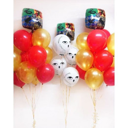 Композиция из гелиевых шаров с совами в стиле Гарри Поттер