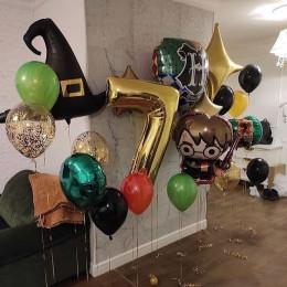 Набор из гелиевых шариков Гарри Поттер с волшебной шляпой