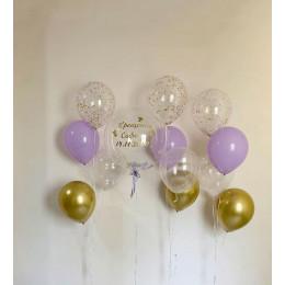Набор воздушных шаров на крещение для девочки