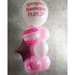 Фонтан в розовой гамме девочке на крестины