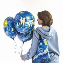 Шар-круг Мечтай, синий - дополнительное фото #1