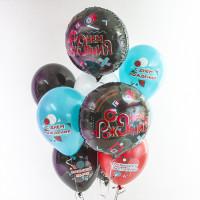 Шар-круг Лайк Тайм, с днем рождения, черный - дополнительное фото #1