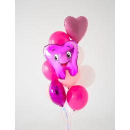 Фонтан Первый зубик в розовой гамме для девочки