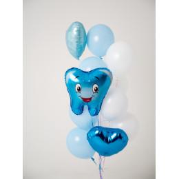 Фонтан Первый зубик в голубой гамме для мальчика