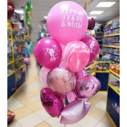 Букет в розовых цветах с Первым зубиком для девочки