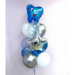 Фонтан со звездой и первым зубиком в голубых тонах