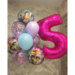 Композиция из шаров для девочки на пять лет сказочный патруль
