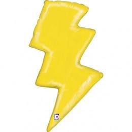 Фигурный шар Молния, желтая