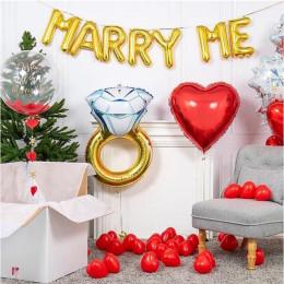 Набор с шарами-буквами и кольцом на помолвку Marry me