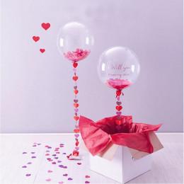 Набор из шаров bubbles с конфетти и коробкой-сюрприз Will you marry me?