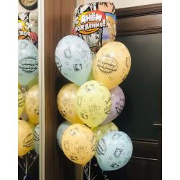 Фонтан с героями аниме и гелиевыми шариками на День рождения