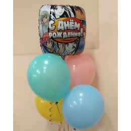 Фонтан воздушных шариков Ты моя анимешка