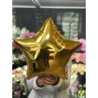 Шар-звезда Золотая (45см) - дополнительное фото #2