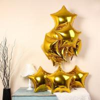 Шар-звезда Золотая (45см) - дополнительное фото #1