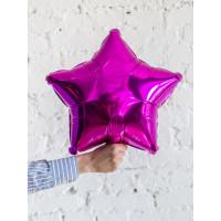Шар-звезда Розовая Фуксия (45см) - дополнительное фото #2
