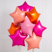 Шар-звезда Розовая Фуксия (45см) - дополнительное фото #3