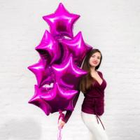 Шар-звезда Розовая Фуксия (45см) - дополнительное фото #1