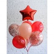 Шар-звезда Красная (45см) - дополнительное фото #2