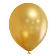 Воздушные гелиевые шары золотые