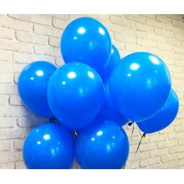Воздушные латексные шары синие - дополнительное фото #3