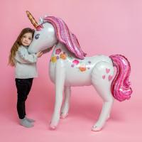 Ходячий шар Нежный Единорог с розовыми волосами - дополнительное фото #1