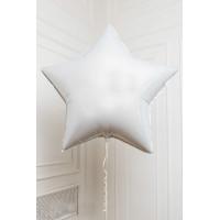 Шар-звезда Белый, сатин - дополнительное фото #1