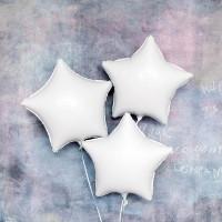 Шар-звезда Белый, сатин - дополнительное фото #2