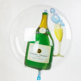 Шарик в шаре Бокал и Бутылка шампанского - дополнительное фото #1