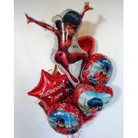 Букет шаров Леди Баг из фольгированных шаров