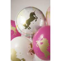 Букет шариков Фиолетовый единорог - дополнительное фото #1
