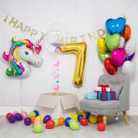 Сет из шаров Единорог с цифрой - дополнительное фото #1