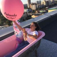 Большой воздушный шар с фамилией или другой надписью на девичник, 91 см - дополнительное фото #2
