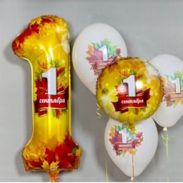 Сет из шаров с надписью 1 сентября