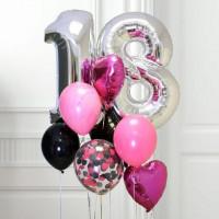 Сет из шаров на совершеннолетие для девушки