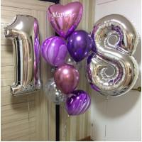 Композиция из шаров На восемнадцатилетие, с надписью - дополнительное фото #1