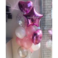 Композиция из шаров на 18 лет, с именем - дополнительное фото #1
