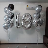 Сет из шаров на совершеннолетие Серебро