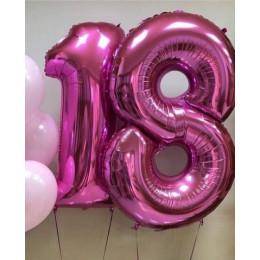 Композиция из шаров на 18 лет Нежные тона - дополнительное фото #1